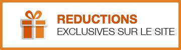 Reductions exclusives sur le site